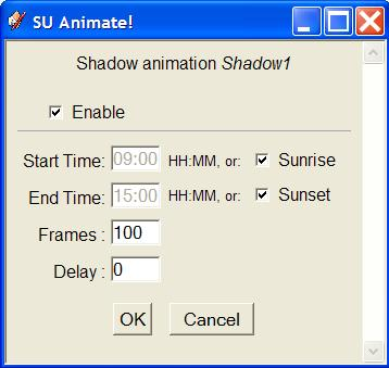 how to change animation time in sketchup